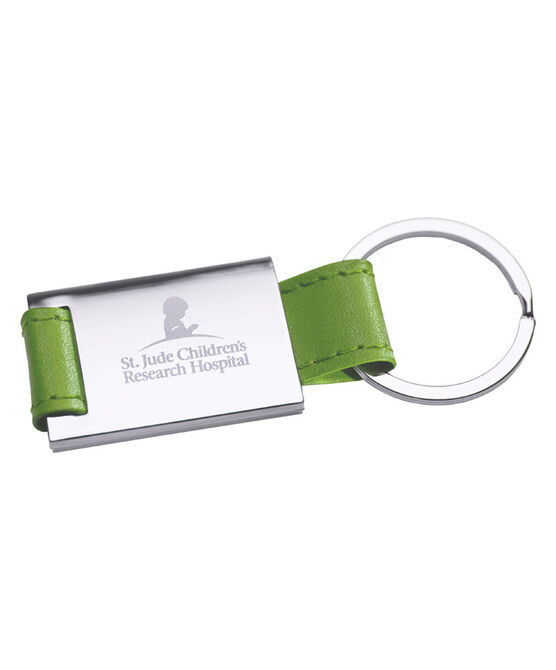Leather Key Chain - Green