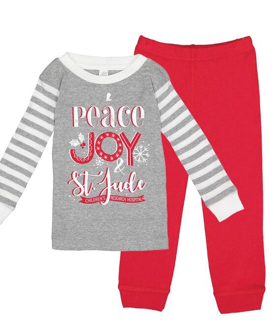 Peace Joy St. Jude Toddler Pajama Set