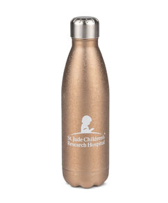 Bronze Crushed Metallic Water Bottle