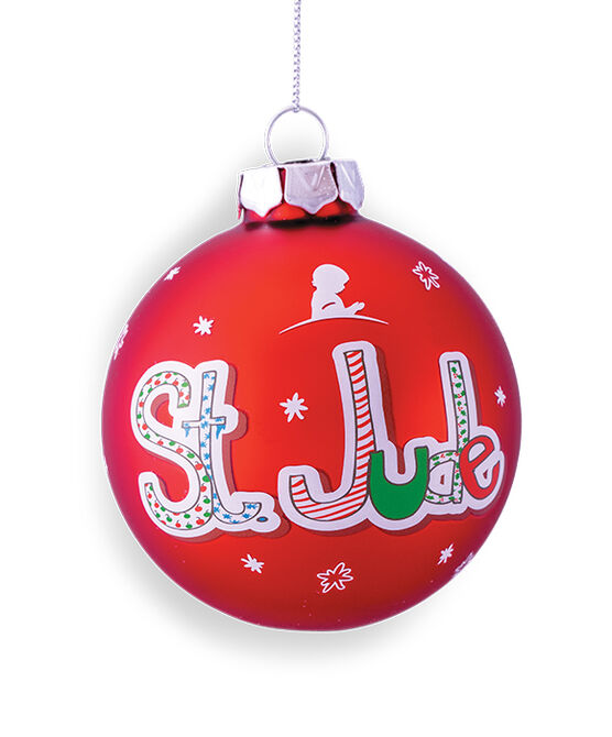 2021 St. Jude Fun Holiday 3 Inch Glass Ornament