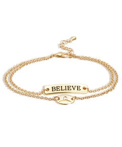 Believe Double Strand Gold Bracelet