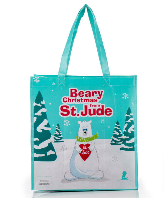 Patient Art-Inspired Beary Christmas Reusable Bag
