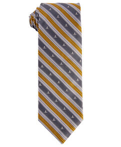 Brooks Brothers® Silk Stripe Tie - Gray & Gold