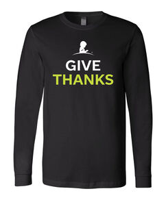 Mens Give Thanks Long-Sleeve Shirt