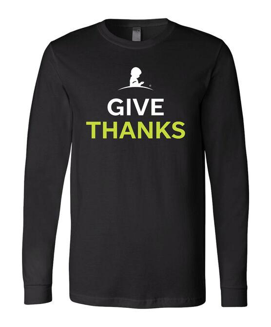 Mens Give Thanks Long-Sleeve Shirt