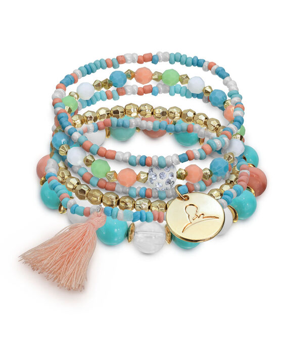 Multi-Color Stand Beaded Bracelet
