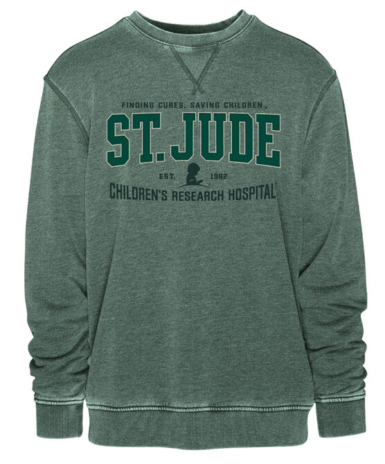 Vintage Green Collegiate Sweatshirt