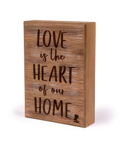 Love is the Heart Box Sign