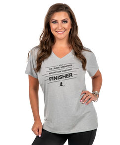 Ladies 2019 St. Jude Memphis Marathon Finisher V-Neck