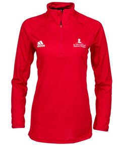 Women's Adidas Quarter Zip Red Pullover