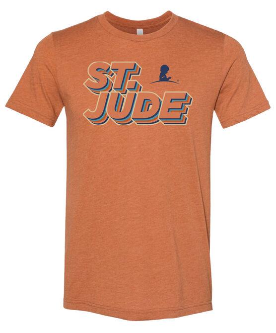 Retro Layered St. Jude Orange T-Shirt