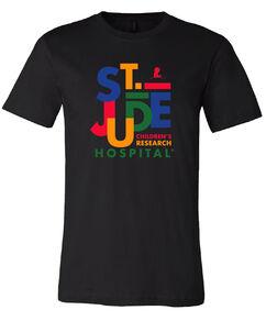Multi-Colored Jumbled Design T-Shirt