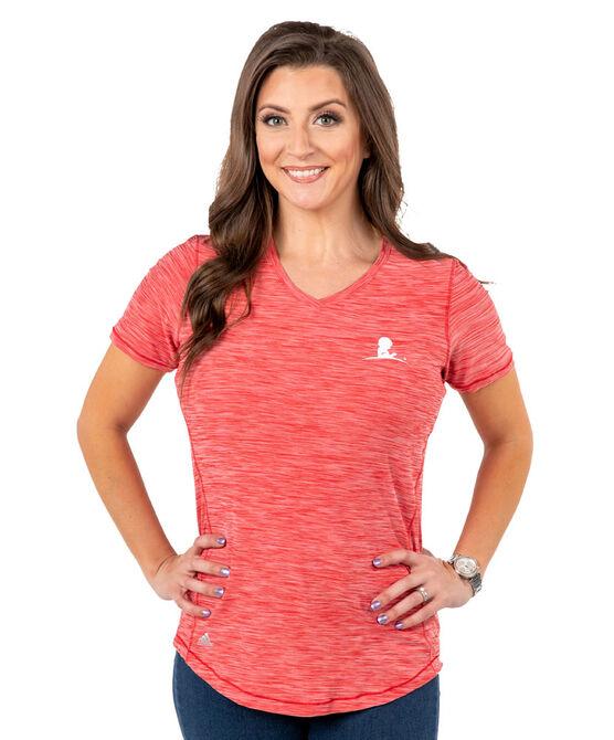 Adidas Women's Performance Heather Red T Shirt