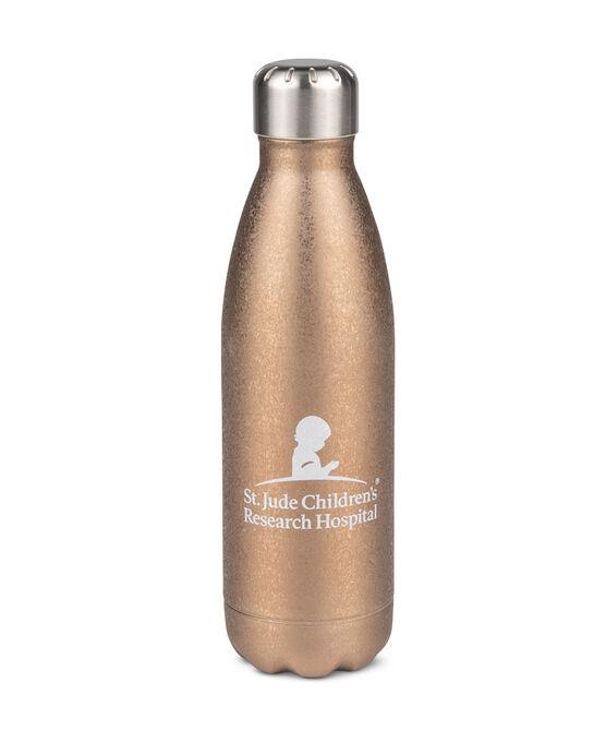 Bronze Crushed Metallic Water Bottle