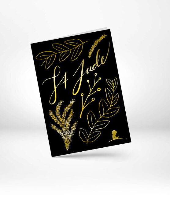 St. Jude Gold Foil Holiday Greeting Card 10 Pack