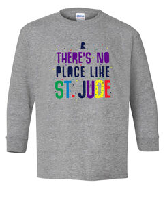 Youth No Place Like St. Jude Grey Long Sleeve T-Shirt