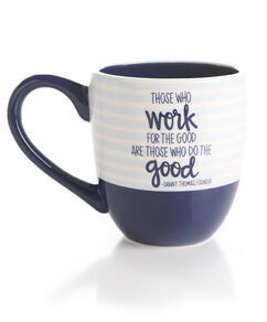 Navy Striped Danny Thomas Quote Mug