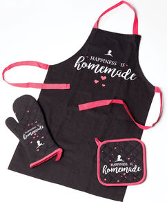 Apron, Mitt & Potholder Set