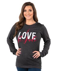 I Love St. Jude Script Long Sleeve T-shirt