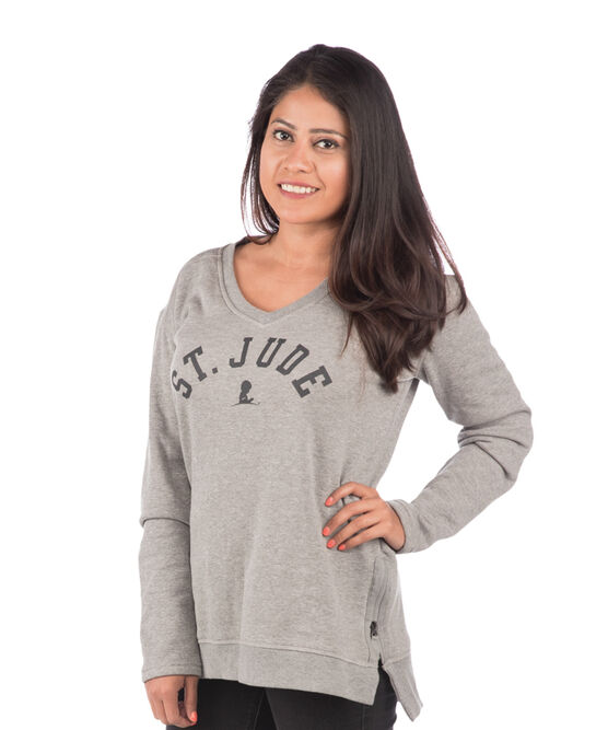 Ladies Side Zip V Neck Sweater