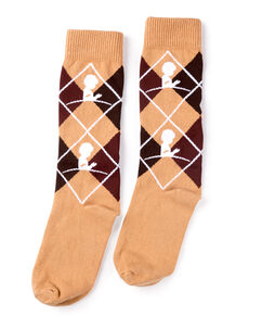 Argyle Brown Dress Sock