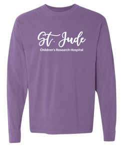 Unisex St. Jude Script Comfort Colors Long-Sleeve T-Shirt