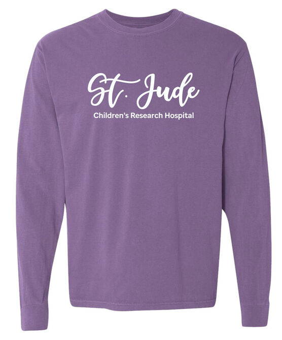 Unisex St. Jude Script Comfort Colors Long-Sleeve