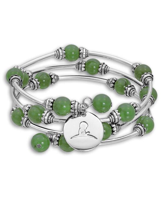 Jade Agate Beaded Wrap Bracelet