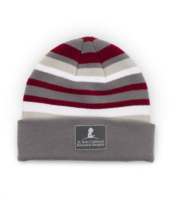 Striped Knit Youth Beanie