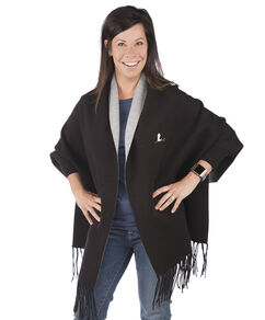 Ladies Fringe Cape Coat