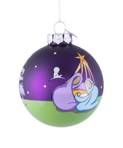 Manger and Bright Star 3 Inch Glass Ornament
