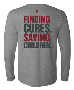 Unisex Finding Cures Saving Children Back Design T-shirt