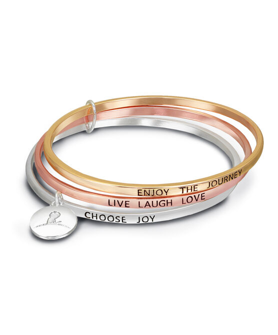 Inspirational Linked Bangle Bracelet