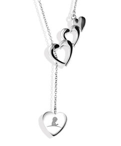 St. Jude Multi Heart Silver Lariat Necklace