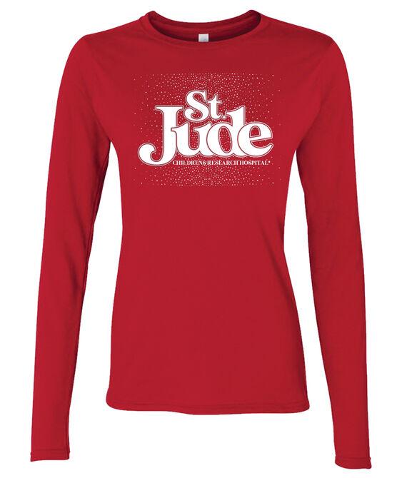 Women's Junior Fit Silver Foil Long Sleeve T-Shirt