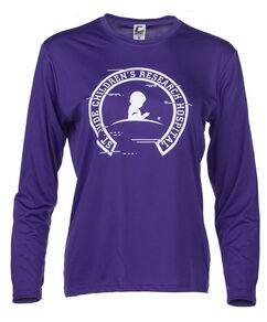 Women's Long Sleeve Performance Purple T-shirt