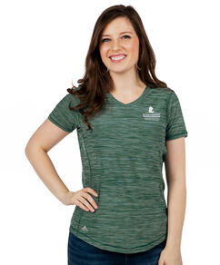 Women's Green Adidas Performance Shirt