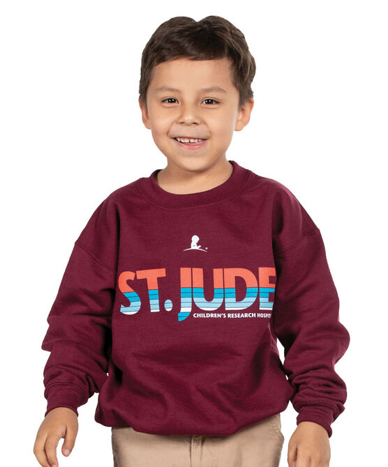 Youth St. Jude Stripe Sweatshirt