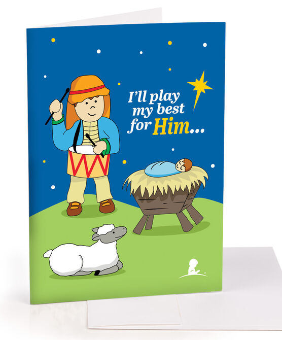 Drummer Boy Greeting Card - Set of 10