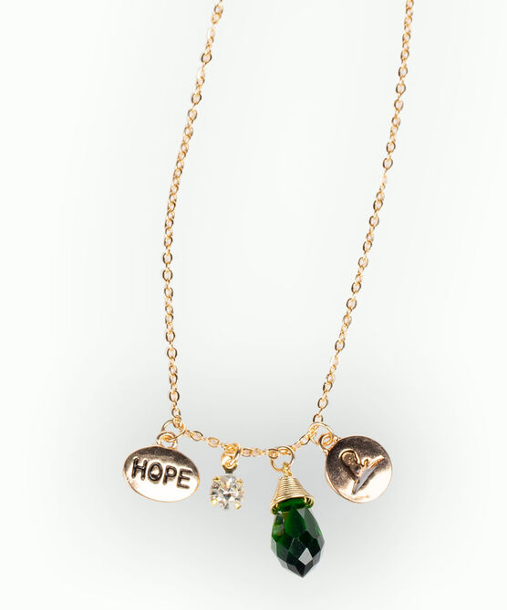 Emerald Stone Charm Necklace