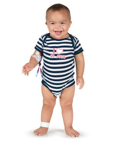Infant I Love St. Jude Striped Onesie