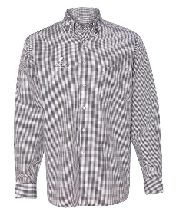 Men 39 s casual button down dress shirt st jude gift shop for Mens grey button down dress shirt