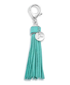 Faux Leather Tassel Purse Charm