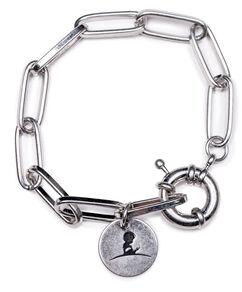 Silver Paperclip Link Bracelet