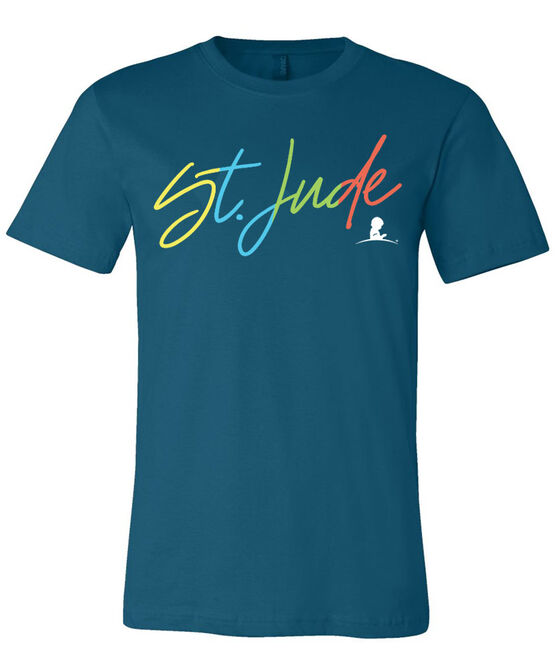 Multi-Colored St. Jude Script T-Shirt