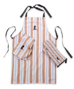 Striped Apron, Mitt & Dish Towel Set