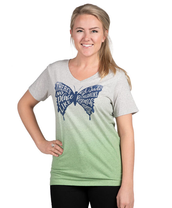 Ladies Butterfly Ombre T-Shirt