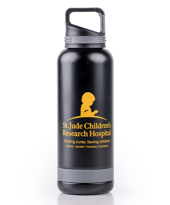 St. Jude Black & Gold 25 oz. Insulated Water Bottle with Carabiner Clip