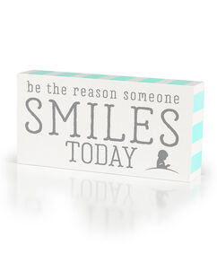 Reason To Smile Wood Box Sign