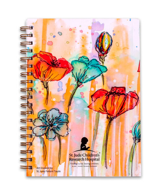 Watercolor Flowers Spiral Notebook